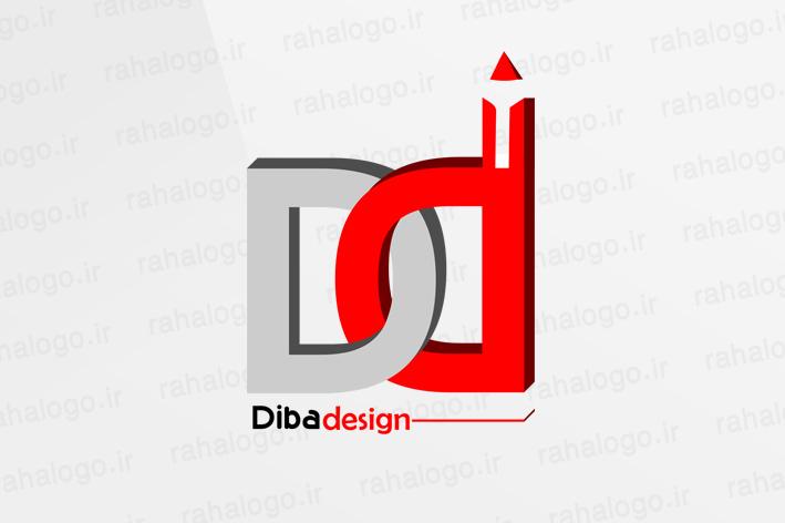طراحی لوگو گروه معماری دیبا دیزاین